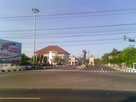 Pintu gerbang menuju kompleks Kabupaten Boyolali